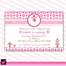 Personalized Birthday Invitation Cards Pixie Fairy Birthday Invitation Card For Printable