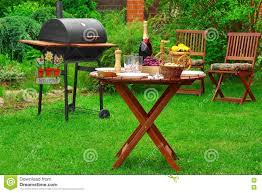 Backyard And Grill by Summer Barbecue Family Party Scene With Grill On Backyard Gard