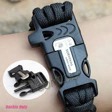 whistle buckle paracord bracelet images 9 39 39 paracord bracelet flint fire starter scraper whistle buckle jpg