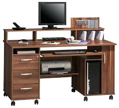 Walnut Computer Desks Computer Desk Wheels Bethebridge Co