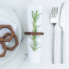 how to set a table with napkin rings personalised wooden hexagon napkin ring set by create gift love