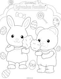 kids fun 17 coloring pages calico critters