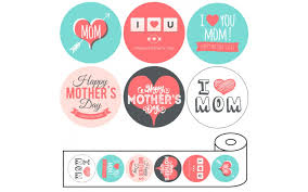 mothers day stickers s day stickers 2 circle 6 copies alternating 500 roll