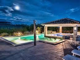 pool bar villa istria 50m2 private homeaway vodnjan pool bar by night in 2014