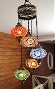 Turkish Lighting Fixtures Turkish Authentic 7 Globe Mosaic Chandelier Mosaic L Moroccan