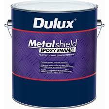 dulux metalshield 1l gloss black topcoat epoxy enamel paint