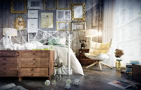Retro Room Decor Charming Industrial Vintage Bedroom Furniture With Frame Wall