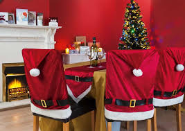 christmas chair back covers santa suit dining chair covers christmas
