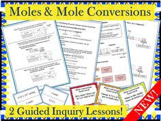 mole conversions and calculations maze for review or assessment