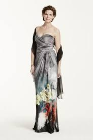 Draped Bodice Dress Strapless Printed Dress With Draped Bodice David U0027s Bridal