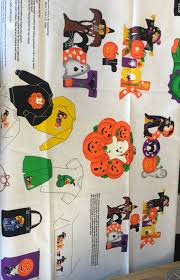 Halloween Fabric Panels by Halloween Applique Happy Trick Or Treat Images Children Craft