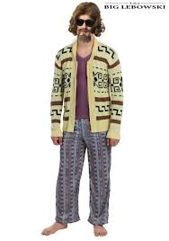 halloween cardigan the big lebowski the dude sweater costume for men