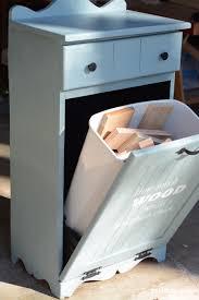 diy scrap wood trash bin makeover