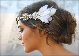 headpiece wedding boho chic wears ivory v neck wedding dress