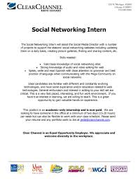 Media Resume Social Media Intern At Clear Channel Shorty Your Chicago South