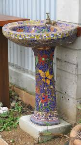 Gazing Ball Pedestals What A Great Idea For A Garden Faucet Take A Scrapped Pedestal