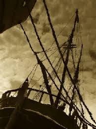 pirates caribbean clash steel print