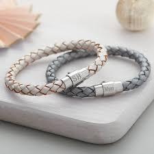 leather ladies bracelet images Teenage leather personalised clasp bracelet hurleyburley jpg
