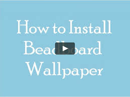 Inswall Wallpapers by How To Install Beadboard Wallpaper On Vimeo