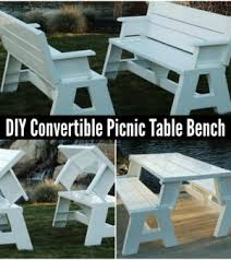 Plans For Picnic Table That Converts To Benches by Convertible Picnic Table Bench 300x336 Jpg