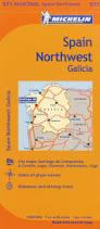 Vigo Spain Map by Michelin Spain Northwest Galicia Map 571 Maps Regional