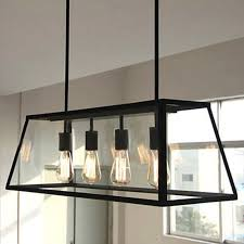 Industrial Pendant Lights For Kitchen by Vintage Loft Industrial American Lustre Organic Glass Box Edison