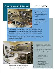 Renting A Commercial Kitchen by Facility Rental Forms Terms And Conditions U2014 The Snohomish Center