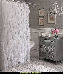 glam bathroom ideas glam bathroom decorating cascade shabby chic ruffled sheer shower