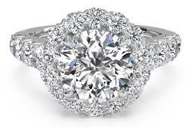 band engagement ring cut masterwork halo band engagement ring in platinum