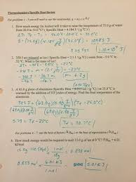 Charles Worksheet Answer Key Thermo Answer Key Side 1 Jpg Height 400 Width 300