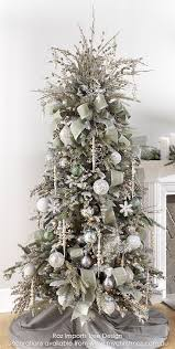 christmas tree themes 37 awesome silver and white christmas tree decorating ideas