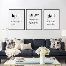 home decor black and white minimalist black white home friends boy dad quotes canvas art