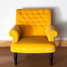 Yellow Velvet Armchair Yellow Velvet Chair R62 Verambelles