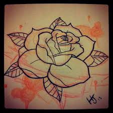9 best rose tattoo stencils images on pinterest draw embroidery