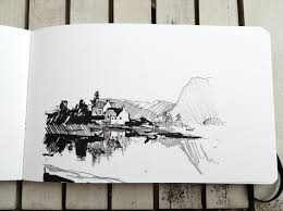 landscape sketching with pen u0026 ink