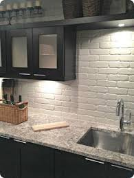 Love Brick Backsplash In The Kitchen Easy Diy Install With Our - White brick backsplash