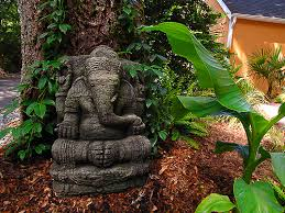 ganesh garden statue i filling up my tropical gardens flickr
