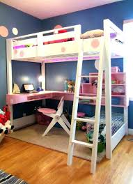 Modern Bunk Bed With Desk Modern Bunk Bed With Desk Green L Shaped Office Underneath