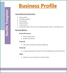 company information template how to write a company profile and