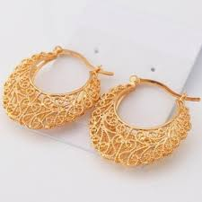 real gold earrings real gold plated hoop earrings
