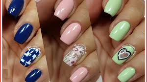 3 easy nail art designs for short nails freehand 6 youtube