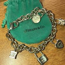bracelet charms tiffany images Tiffany co silver icons lock charm bracelet tradesy jpg