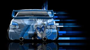 Subaru Impreza Wrx Sti Jdm Back Anime Aerography Car 2014 El