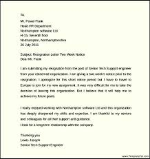 engineer resignation letter notice of 2 weeks templatezet