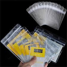 fermeture bureau en gros 10 pcs lot id carte nom cartes porte badge avec fermeture éclair