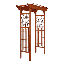 matthews four seasons hickory wood metal arbor heartwood arbor at
