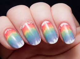 melted rainbow nail art with the seche perfectly poised collection