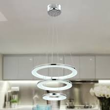 lighting glass ring pendant lighting for kitchen island with