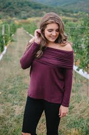 Off Shoulder Tunic By Lauren M