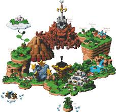 Super Mario World Map Super Mario Rpg World Map Cross Stitch Pattern